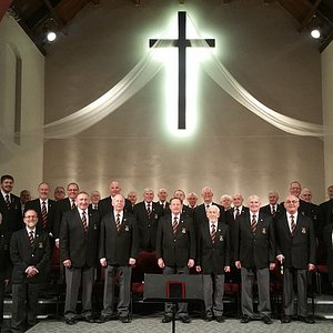 Beaufort Male Choir at a concert in Morden