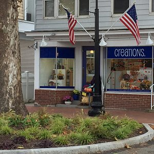 Creations in the main Madison, CT shopping district.