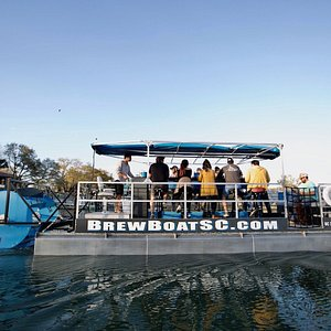 The BrewBoat is South Carolinas first and only aquatic pedal pub.