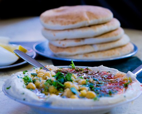 Tell me you don't want this hummus and pita, now!