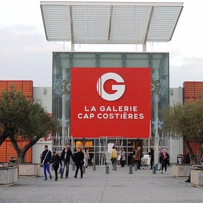 Entrée du centre commercial La Galerie - Cap Costières