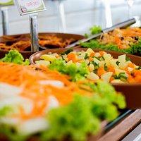 as saladas são maravilhosas