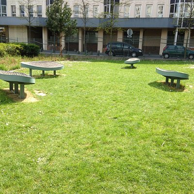 Espace vert et sièges