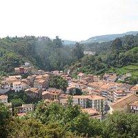 Vistas del pueblo desde el mirador