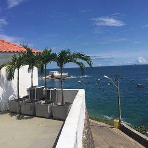 Fotos do Forte São Diogo e a bela vista da Praia Porto da Barra.