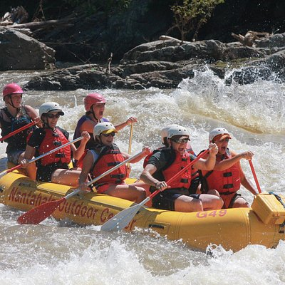 A perfect raft trip through the scenic Pisgah National Forest, just outside of Asheville, NC.
