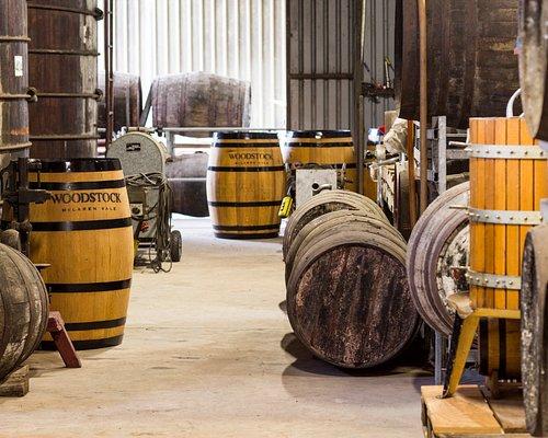 Barrel hall at back of cellar door