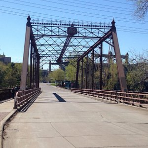 Gateway to Nicollet Island from Northeast.