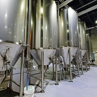 Fermenters in the Brew House. Where all of the magic happens.