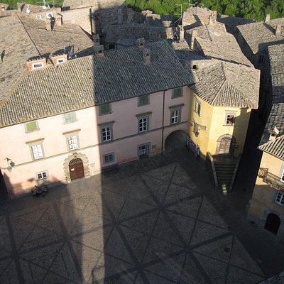 Piazza Unità d'Italia vista dal terrazzo della Torre