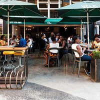 Velo Cafe in Braamfontein, this is our sunny courtyard