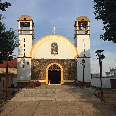 Iglesia Católica en el centro de Palenque, Chiapas.