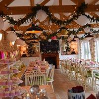 Beautiful New Years Eve Christening at Hamptons @ the barn Bawdeswell