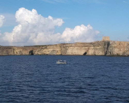 Comino as seen on the ferry to Gozo