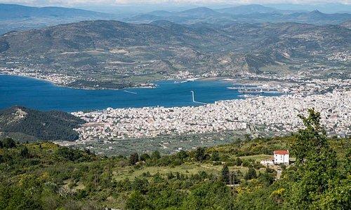 Volos, Greece from Portaria