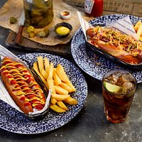 Our New and Improved Hot Dog range, here are just 2 of the choices, the regular and the Bombay D