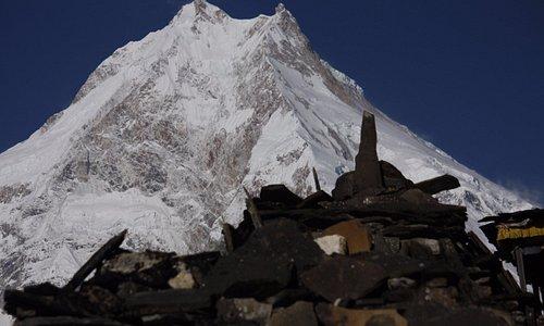 Mt Manaslu view from Lho village