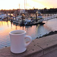 The Charleston marina in the early morning light.