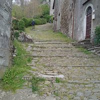 The alley that passes outside Pontito and rises up to the church