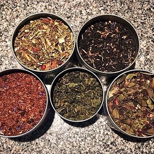 Assorted teas from our weekly tea tasting menu!