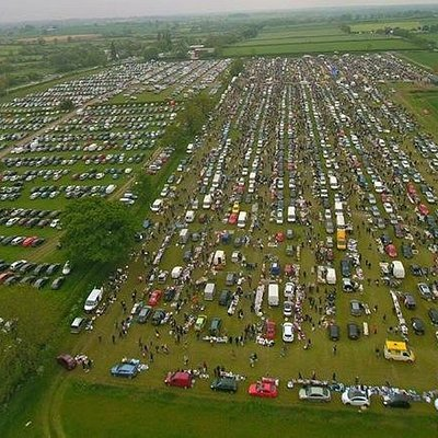 Arial view of Croft Car Boot