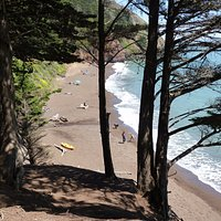 View overlooking Kirby Cove beach