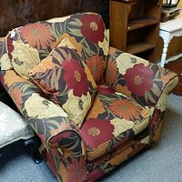 This is a beautiful chair and this picture does not due it justice at the Hallowell Antique Mall