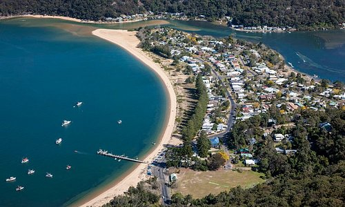 Patonga the hotel is located accross the road from the Beach