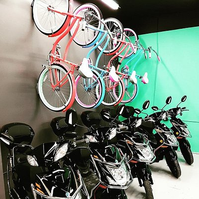 18 Bikes and 20 Scooters available for rent by 3 hours, daily and weekly.