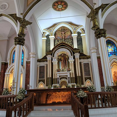 The interiors of St. Andrew's Basilica