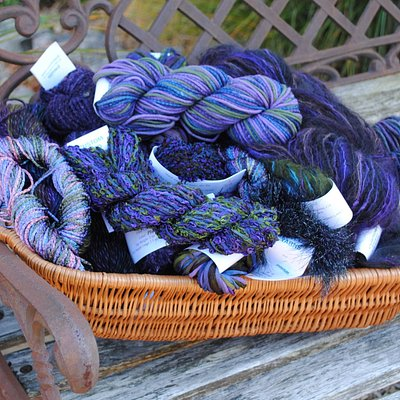 Fiberlicious offers beautiful hand-dyed yarns.  Come be inspired!