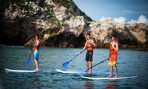 Stand up paddle boarding at the Islando with our Marine Safari