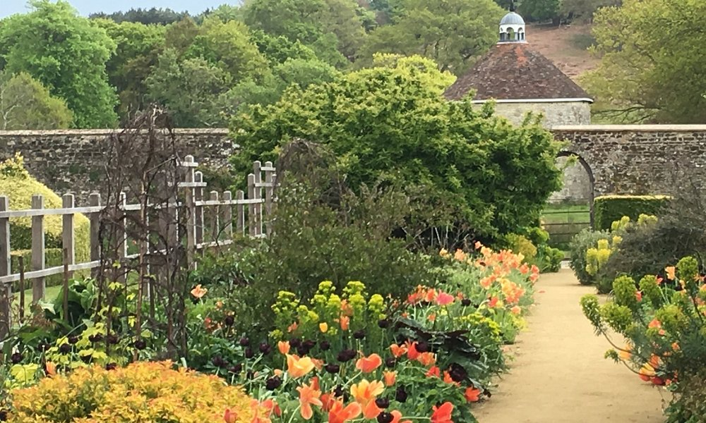 Walled Garden view to Dovecote.