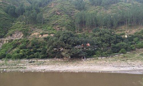 Neeb Karori Baba Ashram, Kakrighat is on banks of Kosi river.
