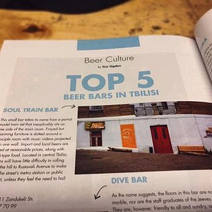 Tourists  who were in the bar had a journal where we saw this article which was pleasant and  jo