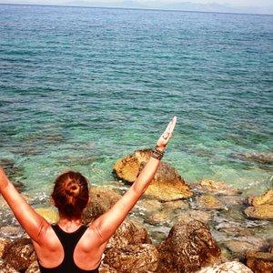 Yoga on beautiful Lefkada