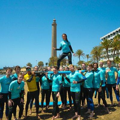 Clases de surf en Maspalomas