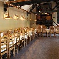 Disposition des tables comme souhaitée, vu le nombre d'invités