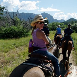 A group ride at Fishtail Ranch