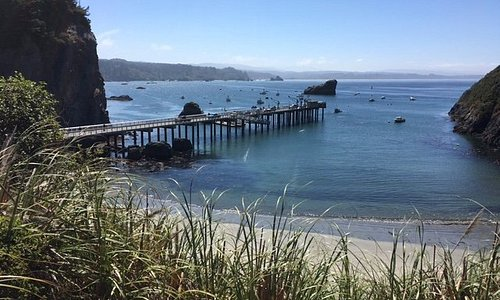 Trinidad, a short drive north of Arcata is a small village with restaurants, and a secluded beac