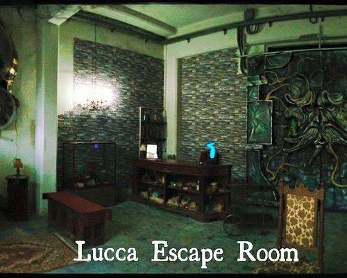 Ingresso della Lucca Escape Room. All'interno troverete più di 10 stanze tematizzate