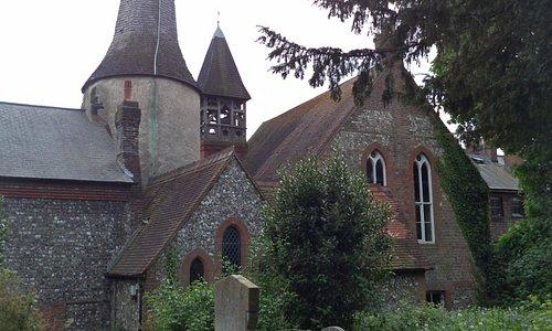 Sat in the Churchyard
