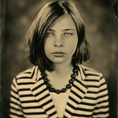 Tintype portrait taken in our Studio