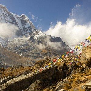 on the way to Annapurna Base camp