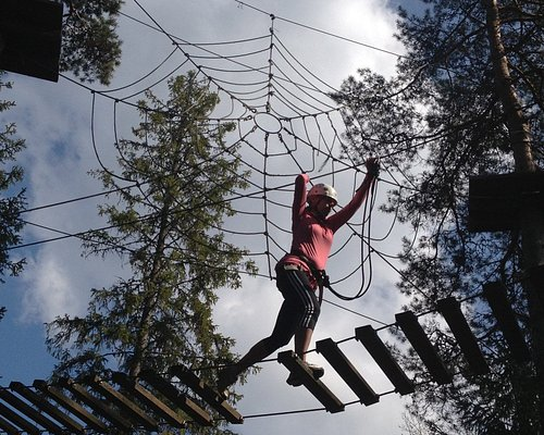 High ropes course at Fjällnora - Uppsala