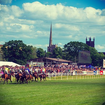 Enjoy the racing action with views of the city
