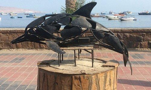 Dolphin sculpture