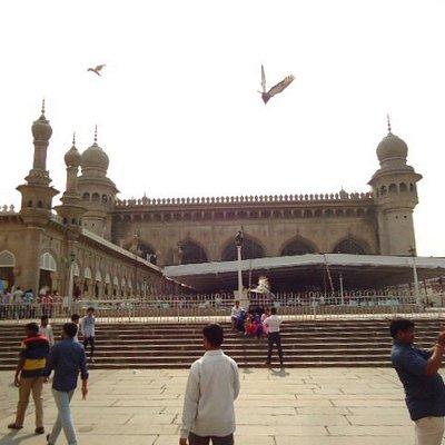 The Mecca Masjid.