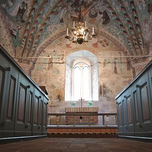 Härnevi church with Fresco paintings by Albertus Pictor,