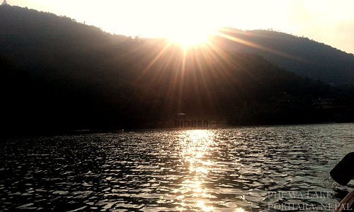 This Photo is take in the middle of Phewa Lake during Boating.